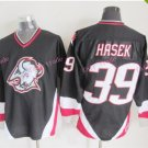 Mens #39 Dominik Hasek Ice Hockey Jersey Buffalo Sabres Black Premier Stitched 1999 Black