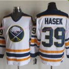 Mens #39 Dominik Hasek Ice Hockey Jersey Buffalo Sabres Black Premier Stitched 1999 White