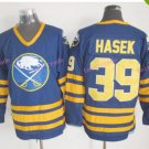 Mens #39 Dominik Hasek Ice Hockey Jersey Buffalo Sabres Black Premier Stitched 1999 Blue