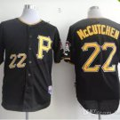 Pittsburgh Pirates #22 Andrew McCutchen 2015 Baseball Jersey  Authentic Stitched Black Style 1
