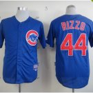 chicago cubs #44 anthony rizzo 2015 Baseball Jersey Rugby Jerseys Authentic Stitched Blue Style 2