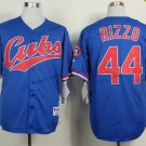 chicago cubs #44 anthony rizzo 2015 Baseball Jersey Rugby Jerseys Authentic Stitched Blue Style 1