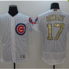 2017 Chicago Cubs 2016 Champions Gold Program 17 Kris Bryant White Flexbase Jerseys