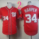 Bryce Harper Jersey 10th patch Authentic Washington Nationals Cool Base Jerseys Red