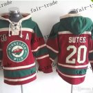 minnesota wild #20 Ryan Suter Hooded Stitched Old Time Hoodies Sweatshirt Jerseys