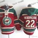 minnesota wild #22 Nino Niederreiter Hooded Stitched Old Time Hoodies Sweatshirt Jerseys