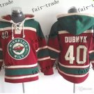 minnesota wild #40 Devan Dubnyk Hooded Stitched Old Time Hoodies Sweatshirt Jerseys