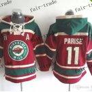 minnesota wild #11 zach parise Hooded Stitched Old Time Hoodies Sweatshirt Jerseys