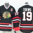 Chicago #19 Jonathan Toews Youth Ice Hockey Jerseys Kids Boys Stitched Jersey Black 1