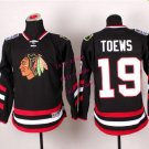 Chicago #19 Jonathan Toews Youth Ice Hockey Jerseys Kids Boys Stitched Jersey Black 2