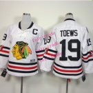 Chicago #19 Jonathan Toews Youth Ice Hockey Jerseys Kids Boys Stitched Jersey White 2