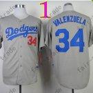 34 Fernando Valenzuela Jersey Vintage Los Angeles Dodgers Jersey Gray 1981 Throwback