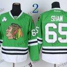 #65 Andrew Shaw Chicago Blackhawks Ice Hockey Home Green Mens