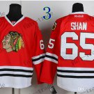 #65 Andrew Shaw Chicago Blackhawks Ice Hockey Home Red Mens
