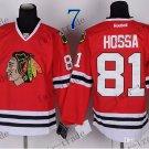 #81 Marian Hossa Chicago Blackhawks Ice Hockey Home Red Mens