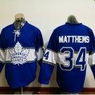 100th leafs 2017 Draft #34 Matthews Blue 2017 winter classic Hockey Jerseys
