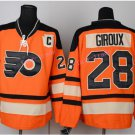 Men's Philadelphia Flyers Hockey Jerseys #28 Claude Giroux Orange Jersey 2012 Winter Classic Style 2