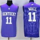 Kentucky Wildcats Jerseys 2017 College 11 John Wall Home Purple