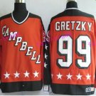 New York Rangers 99 Wayne Gretzky Jerseys Hockey St.Louis Blues Los Angeles Kings Vintage Orange S2