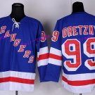 New York Rangers 99 Wayne Gretzky Jerseys Hockey St.Louis Blues Los Angeles Kings Vintage Purple S2