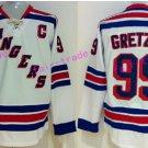 New York Rangers 99 Wayne Gretzky Jerseys Hockey St.Louis Blues Los Angeles Kings Vintage White S6