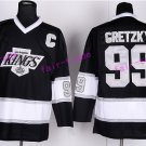 New York Rangers 99 Wayne Gretzky Jerseys Hockey St.Louis Blues Los Angeles Kings Vintage Black S1