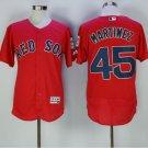 New Flexbase 45 Pedro Martinez Jersey Boston Red Sox Baseball Jerseys 2016 Men Team Color Red
