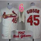 # 45 Bob Gibson Jersey White 1967 Hemp Jerseys Vintage Style 4
