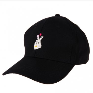 2017 Fashion Unisex Casual Sun Cap Baseball Cap Finger Embroidery Snapback Cap Hats For Women Black