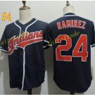 cleveland indians #24 manny ramirez throwback Black 2016 Baseball Jersey Authentic Stitched