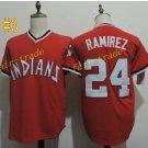 cleveland indians #24 manny ramirez throwback REd 2016 Baseball Jersey Authentic Stitched