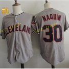 cleveland indians #30 Tyler Naquin throwback Gray 2016 Baseball Jersey Authentic Stitched