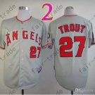 2015 Mike Trout Jersey Gray Cool Base Los Angeles Angels Jerseys Stitched Style 2