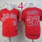 2015 Mike Trout Jersey Red Cool Base Los Angeles Angels Jerseys Stitched