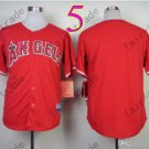 2015 Jersey Red Cool Base Los Angeles Angels Jerseys Stitched