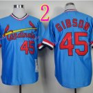 #45 Bob Gibson Jersey 1967 Hemp Blue Jerseys Vintage Style 2