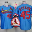 #45 Bob Gibson Jersey 1967 Hemp Blue Jerseys Vintage Style 1