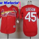 #45 Bob Gibson Jersey 1967 Hemp red Jerseys Vintage