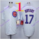 2016 Majestic Official Cool Base Stitched Chicago Cubs #17 Kris Bryant White Baseball Jerseys