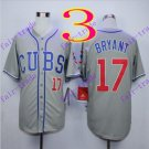 2016 Majestic Official Cool Base Stitched Chicago Cubs #17 Kris Bryant Gray Baseball Jerseys Style 2