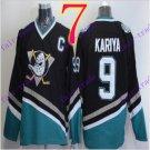 Cord Anaheim Ducks #9 Paul Kariya Black Hockey Jersey Stitched