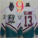 Cord Anaheim Ducks #13 Teemu Selanne White Hockey Jersey Stitched