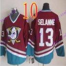 Cord Anaheim Ducks #13 Teemu Selanne Red Hockey Jersey Stitched