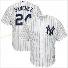 New York Yankees Baseball Jerseys 24 Gary Sanchez Ruth Retirement Patch White