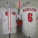 Billy Hamilton Jersey, Stitched Cincinnati White Jerseys Style 1