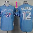 Roberto Alomar Jersey Throwback Retro Blue Baseball Blue Jays Jerseys