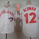 Roberto Alomar Jersey Throwback Retro White Baseball Toronto Jays Jerseys Style 1