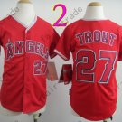 Youth Los Angeles Angels Jersey 27# Mike Trout Red Kid