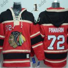 Chicago Blackhawks #72 Artemi Panarin Red Hockey Hooded Stitched Sweatshirt Jerseys