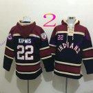 cleveland indians 22 Jason Kipnis 2016 Baseball Hooded Stitched Old Time Sweatshirt Jerseys